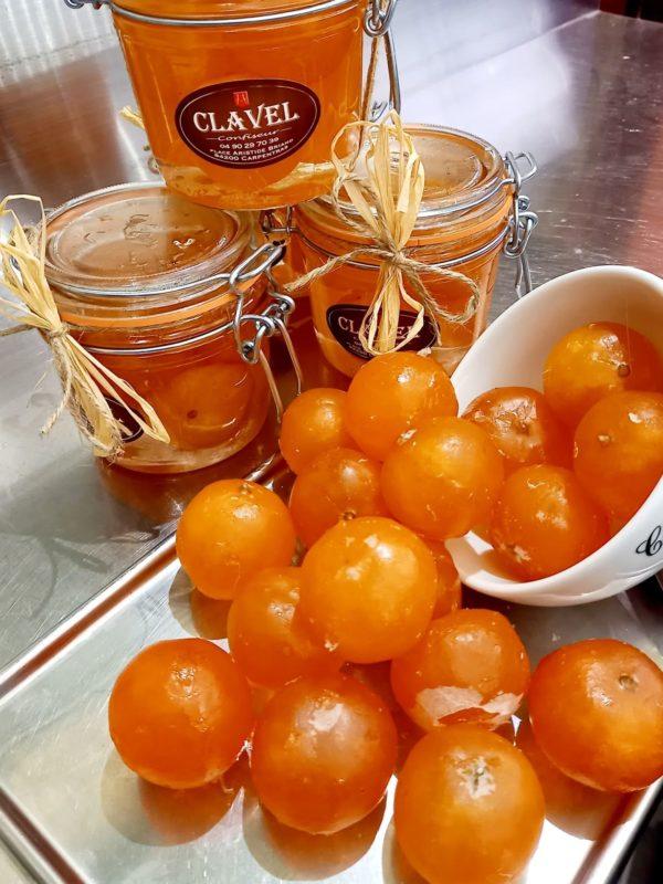 Clementines confites au sirop